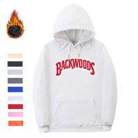 Yeni Streetwear Backwoods Hoodies Kazak Siyah Beyaz Moda Sonbahar Kış Erkek Hoodies Vida Konu Manşet Hoodie Kazak T200828