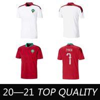 2020 Jerseys de football européen Maroc 20/21 Maillot de Foot Ziyech Boutaib Camiseta de futbol Boussoufa el Ahmadi Chemise de football