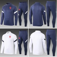 Thai 2020 Frankreich Fußball Trainingsanzug Anzüge GRIEZMANN Jacke 2021 Pogba Chandal Mbappe Trainingsanzüge Sports tragen