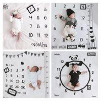 مصمم بطانيات التصوير الفوتوغرافي بطانيات القمر الكامل مائة يوم الطفل صور خلفية القماش الإبداعية الشهر التصوير الدعائم بطانية XD24243