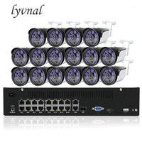 Lyvnal H.265 / 264 16ch poe nvr كيت المكونات واللعب 2MP 1080P IP كاميرا Poe 48V CCTV نظام المراقبة كيت 32ch NVR 4K 1080P1