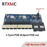 Reverse Poe 2G8 RJ45 Gigabit Ethernet-Switch 2 * 1,25g Faseranschluß SC-Anschluss 8 * 1000m PCBA-Board Fibra Optische Konverterplatte1