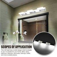 12 W dört ışık akrilik duvar lambası banyo lambası beyaz ışık gümüş üst sınıf malzeme su geçirmez duvar lambaları toptan