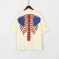 20ss Kapital T Shirt de gran tamaño Esqueleto Impresión Kapital Top Tees Hombres Mujeres Streetwear Hip Hop Knaye West Kapital T Shirt X1214