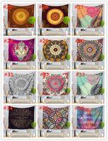 51 Diseño Mandala Tapices Tapicura Mural Colgante de Yoga Mats Playa Toalla Picnic Manta Sofá Cubierta Cubierta Partido Fondo Boda Decoración del hogar FFD3464