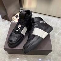 Beste Ankunft Männer Frauen VL7N Geprägte Leder Sneaker Schwarz Weiß Wildleder Wohnungen Schuhe Patchwork Classic Casual Trainer Große Größe 35-45