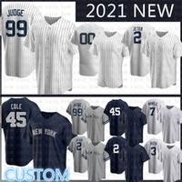 Custom 2020 New Aaron 99 Juez Jersey de béisbol Derek 2 Jeter Gerrit 45 Cole Gleyber 25 Torres DJ 26 Lemahieu Don 23 Matting Gary Sanchez