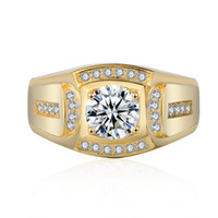 Acessórios Explosivos Anel Domineering Homens de Negócios Imitação Anel de Ouro Venda Quente 18K Branco Banhado Ouro Anel de Diamante