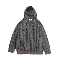 Японская ретро полосатая этническая толстовка с капюшоном свободная пара пуловер негабаритные толстовки высокой улицы мешковатый повседневный капюшон для мужчин