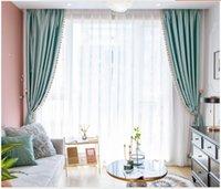 Nordic Modern Işık Lüks Perde Prenses Stil Yüksek Dereceli İmitasyon İpek Yeşil Yatak Odası Oturma Odası Kadife Tam Gölgeleme