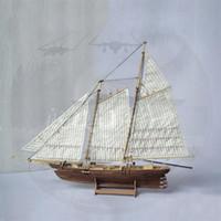Leadsstar 1: 120 DIY Деревянная сборка Корабль Модель Классический парусник Лазерная резка Процесс головоломки игрушки Y200428