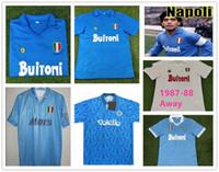 Maradona Retro Classic 1986 1987 1988 1989 1991 1991 1993 Napoli Fussball Jersey 87/88/89 91/93 Maradona Football Sports Shirts-2XL
