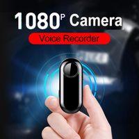 مصغرة الكاميرات المهنية 1080 وعاء HD كاميرا فيديو 192Kbps صوت مسجل بو زاوية واسعة حلقة تسجيل كليب حزام كومبيرو