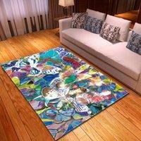 Tapete de água nórdica cor abstrata pintura a óleo tapete anti-rugas tapetes para quarto sala de estar decoração tapete