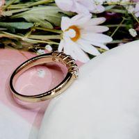 Aeaw 18k ouro amarelo 0.1ct 3mm Total 0.5ctw DF Corte Redondo EngagementWedding Laboratório de Moissanite Crescido Anel de Banda de Diamante para Mulheres J1208