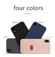 جديد سامسونج iphone11pro حالة الهاتف XR Xsmax الجلود إدراج بطاقة الغلاف الخلفي كامل TPU حالة الهاتف