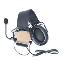 SoftAir Comtac II Headset tático Cancelamento de ruído para Airsoft Midland / Ken Ptt Walkie Talkie Radio Caçando Aviação WZ184