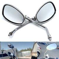 lasca cromo espelhos laterais mota para Yamaha Vespa acessórios de lado espelho motocicleta espelho retrovisor do moto