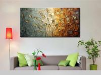 Alta calidad pintada a mano contemporánea enorme decoración abstracta paisaje flor de flores arte pintura al óleo sobre lienzo multi tamaños personalizados
