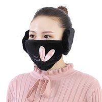 em 1 face 2 máscaras orelha aquecedor de inverno máscara de natal máscara de ouvido quente frio para as mulheres máscaras protetoras FY9228