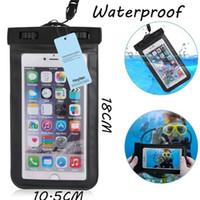 Wholesale ماء حالة حقيبة pvc واقية حقيبة الهاتف العالمي الحقيبة مع أكياس البوصلة للغوص السباحة للهاتف الذكي تصل إلى 5.8 بوصة