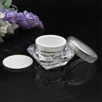 Pot de style diamant 15g / ml acrylique cosmétique vide paupière maquillée maquillée de maquillage crème à lèvres baume de conteneur conteneur échantillon d'échantillon 234 J2