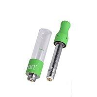 Einweg-Verdampfer 510 Gewinde-Rund-Mund-Zerstäuber-Top-Luftstrom-Kartusche 1.0ml-Dampfraucher-Pirsch-Pyrex Smart Carts Fit Smart Batterie