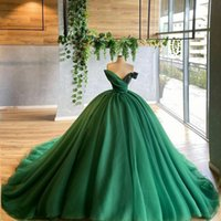 Verde Quinceanera Vestidos Bola Vestido sexy V Neck Tiered Ruffles Tule Plus Size Formal Party Prom Noite