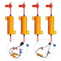 50W 8 OHM CANBUS LED Resistencias de carga LED Faro bombillas Error Cancelador de giro Señal Luces de señal Hyper Flash Capacitor Decoder Wire1