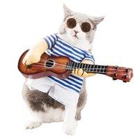 القط ملابس عيد الميلاد هالوين الكلب زي مضحك المتفجر رئيس غيتار لاعب الحيوانات الأليفة حزب تأثيري الأحداث الخاصة ملابس الملابس 2011111