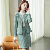 High Quality Plus Size Women' s Office Skirt Suit Two- pi...
