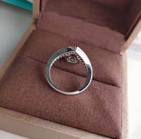 V material de ouro luxuoso qualidade punk anel de banda com diamante azul para mulheres noivado jóias presente frete grátis ps5423