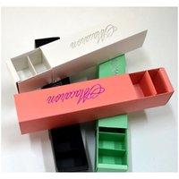 500 قطع 6 ألوان المعكرون التعبئة والتغليف الزفاف الحلوى الحسنات هدية مربع الليزر صناديق 6 شبكات الشوكولاتة مربع / مربع الكعكة LIN3832 QZBXL