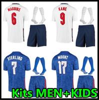 2020 Soccer Jersey Kits 2021 Kane Sterling Vardy Rashford Dele 20 21 Sancho Abraham Football Shirt Men + Kids Kit