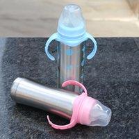 Garrafa de alimentação de aço inoxidável larga moda furo Babys seguras novas garrafas especiais Finalidade saudável Thermos Cup 20DS K2