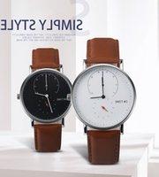 Großhandel okime herren ultradun armbanduhren luxus leder nylon männchen wasserdichte quarz cluc montre homme marque de luxe