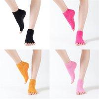 Femmes non glissantes Chaussettes Cinq doigts Half Toe Bas de Yoga Ballet Plancher Socket Chaussette Fashion 4 7ch O2