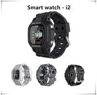I2 الرياضة الساعات الذكية الرجال رصد معدل ضربات القلب Smartband عالية السعة الفرقة الذكية مع شاشة مشرق إعدادات الذكية bracel ip67 للماء