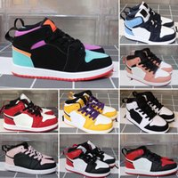 Nike Air Jordan 1 2020 새로운 chunky 덩크 sb 키즈 신발 소년 소녀 캐주얼 패션 스니커즈 운동 어린이 어린이 걷는 유아 스포츠 트레이너