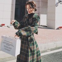 2020 autumn new chanél l. Classic plaid loose waist thickeni...