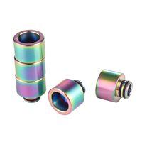 Newst 510/810 gotejamento dicas cor arco-íris aço aço inoxidável ss dip dip largamente furo bocal para tfv8 grande bebê tfv12 príncipe tank