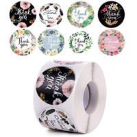 500 adet / rulo Teşekkür Etiketler Mühür Etiketleri 1.5 inç Doğum Günü Düğün Parti Noel Hediyesi Ambalaj Zarf Dekorasyon JK2101KD