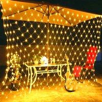 Entrega GRATUITA 210 LED Fada Luz Luz Luz Malha Cortina String Casacão Festa de Natal Decoração de Alta Qualidade Quente Branco LED Luzes Cordas