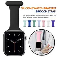 Alça de enfermeira de silicone para pulseira despeje Montre Apple Watch Band 44mm Series 6/5/4/2 Assista Pulseira Correa Pulseira para Iwatch Bands