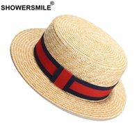 TrainersMile Paille Panama Chapeaux Femme Ruban Rouge Femme Beach Chapeau Sun Chapeau Femmes Élégantes Fête Marque Britannique Dames Hates et Caps