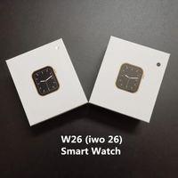 1,75 Zoll 320 * 385 HD-Bildschirm W26 Smart Watch PPG + EKG Körper Temperatur Bluetooth Call Wasserdichte Männer Smartwatch PK IWO Serie 12