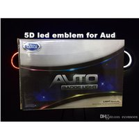 5d auto LED Emblem Auto LED Badge Auto LED Simboli logo Luce posteriore Bianco rosso blu per AU * D Dimensione 180x58mm