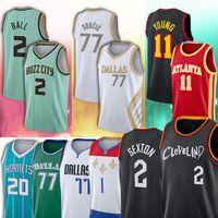 2021 Nouveau 2 collin 20 Gordon Sexton 2 Lamelo Hayward Ball 1 Zion 77 Luka Williamson Doncic Basketball Jerseys