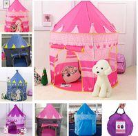 Kinder Spielzeugzelte Kinder Falten Spiel Haus Tragbare Outdoor Indoor Toy Zelt Prinzessin Prince Castle Spiel Haus Zelt KKA8295