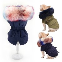 Warm Winter Dog Clothes Luxury Fur Dog Coat Hoodies for Small Medium Dog Windproof Pet Clothing Fleece Lined Puppy Jacket T200101